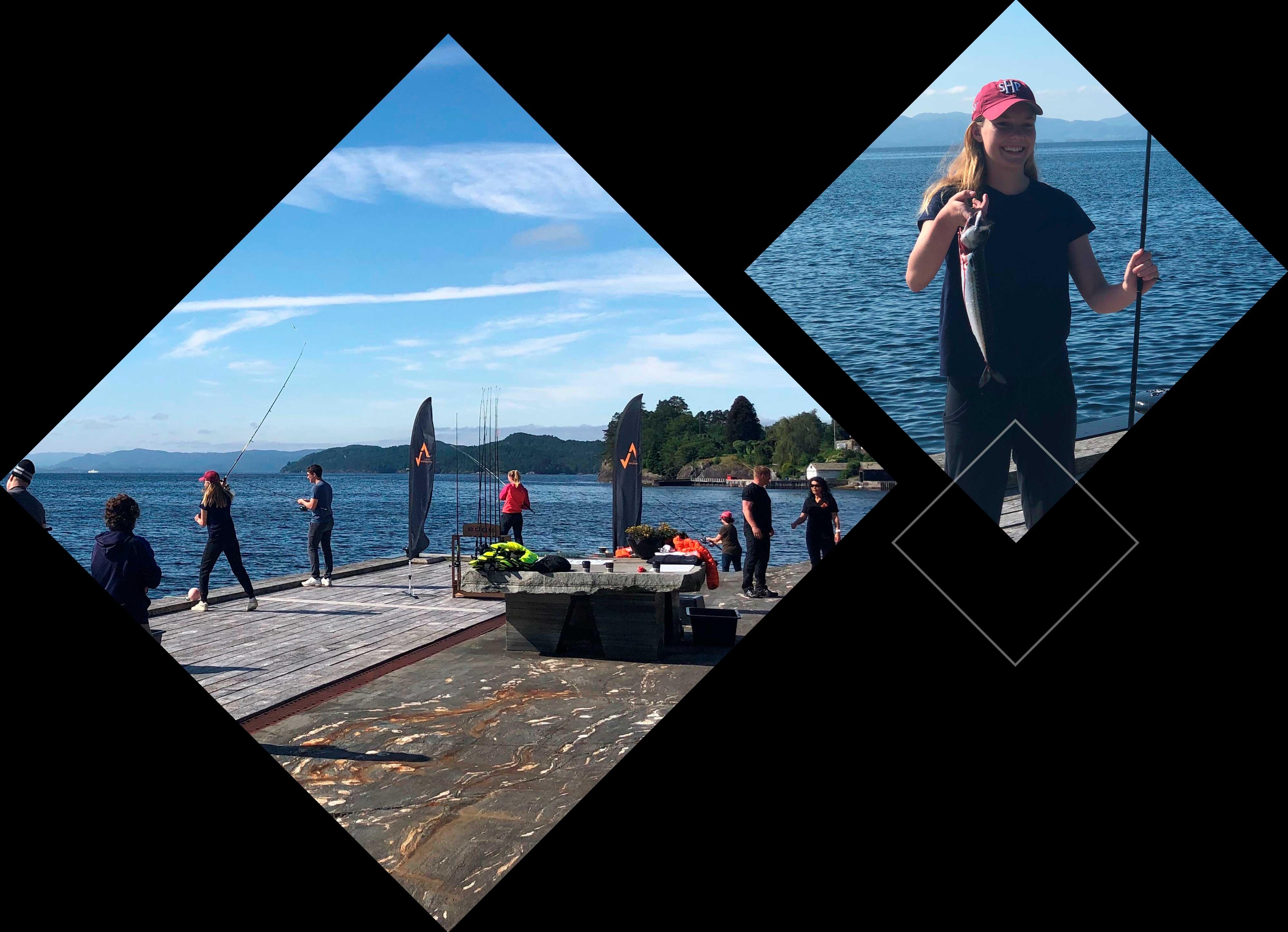 Bilde av folk som fisker.
